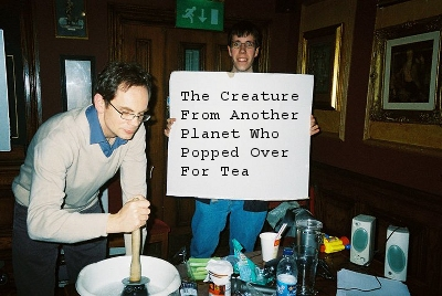 The Creature From Another Planet Who Popped Over For Tea